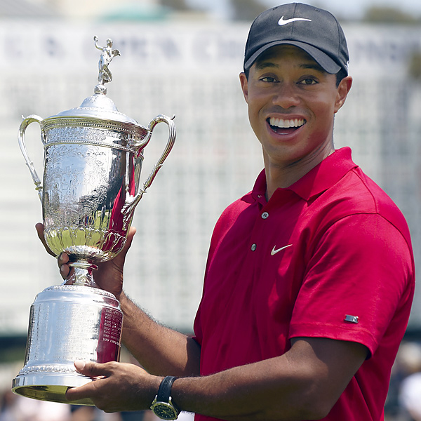 No. 14: 2008 U.S. Open                           In his self-described greatest major championship victory, Woods fought through a torn ACL and multiple stress fractures in his left leg to defeat Rocco Mediate on the 19th hole of a Monday playoff at the first ever U.S. Open at Torrey Pines.