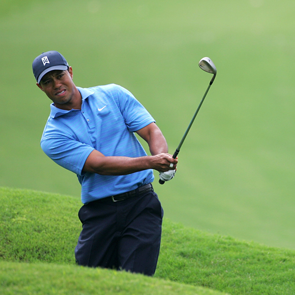 "Woods finished with a three-over-par 75. ""Just got to make a few more putts. Greens are a little bit tricky to read, different grain out there than we're used to, and I had a tougher time than the guys at the top of the board,"" he said.                        • Baffled by greens, Woods shoots 75"