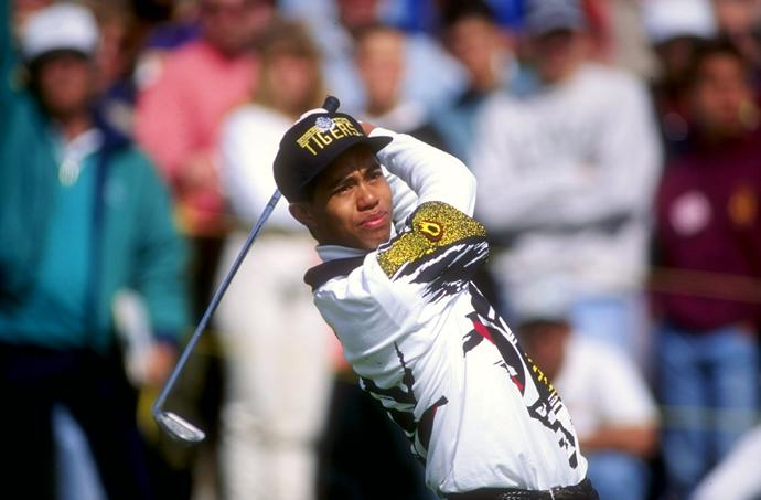 Woods at the 1993 Los Angeles Open, his second professional event.