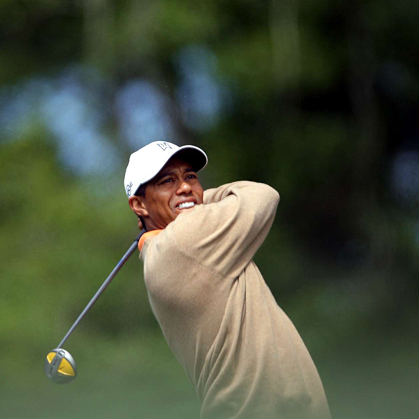 Woods came out of Amen Corner eight shots off the lead.