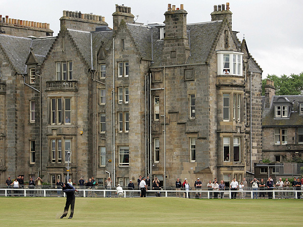 No. 10: 2005 British Open                       The British Open returned to the home of golf, St. Andrews, in 2005, and once again Woods was in top form. He won the claret jug for a second time with a five-shot margin of victory over second-place Colin Montgomerie.
