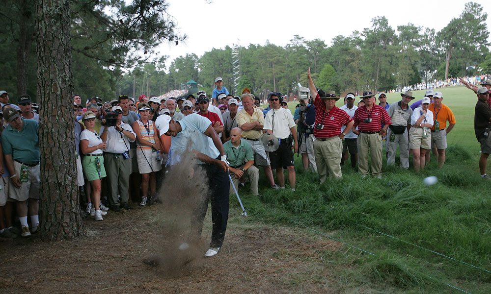 Woods finished second to Michael Campbell in the 2005 U.S. Open at Pinehurst No. 2.