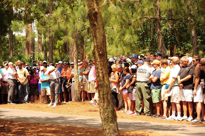 Woods, Sergio Garcia and Henrik Stenson trail rookie David Lingmerth by two strokes.