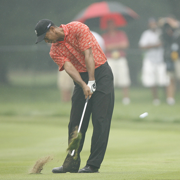 2006                                                                     Tiger's intensity only increased as the rain fell on Medinah. Having won the British Open a month before, Woods returned to the site of his 1999 triumph a heavy favorite.