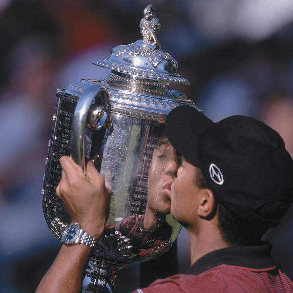 Woods won his second major at the 1999 PGA Championship at Medinah Country Club by holding off Sergio Garcia on Sunday.