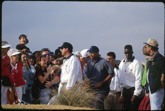 The Phoenix Open isn't on Tiger Woods's current schedule, but as a 21-year-old rookie in 1997 he gave the event one of its most electrifying moments when he aced the famous 162-yard, par-3 16th hole at TPC Scottsdale on Saturday, the loudest and craziest day of the tournament. Tucson photographer Lori Kavanaugh captured the scene in these exclusive photographs.