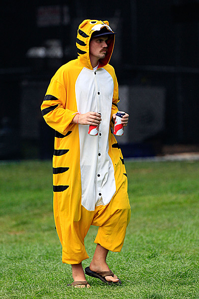 At the 2011 Bridgestone Invitational in Akron, this fan geared up for an afternoon of cheering on Woods.
