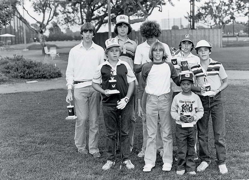 Tiger Woods [front, right] played most of his junior golf in Southern California.