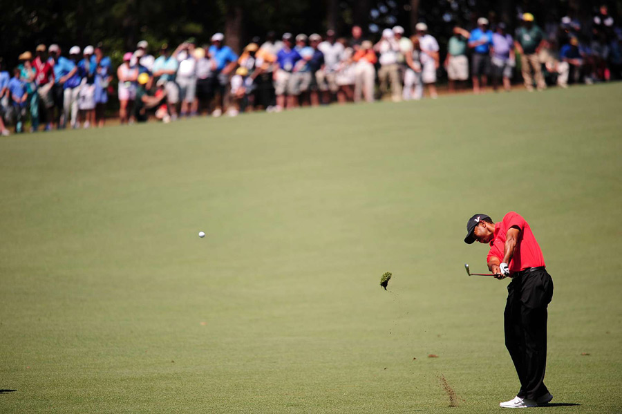 Tiger Woods shot a two-over 74 for his worst finish at the Masters as a professional.