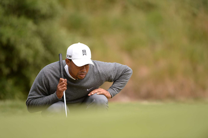 Tiger Woods finished at three-over par on Friday after an even-par 70.