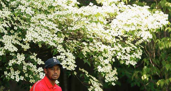 Tiger Woods waits to play his tee shot on the 13th hole. Woods finished T65 at 8-over 296. Woods' highest score in a 72-hole event is a 298 at the 2010 WGC-Bridgestone Invitational.