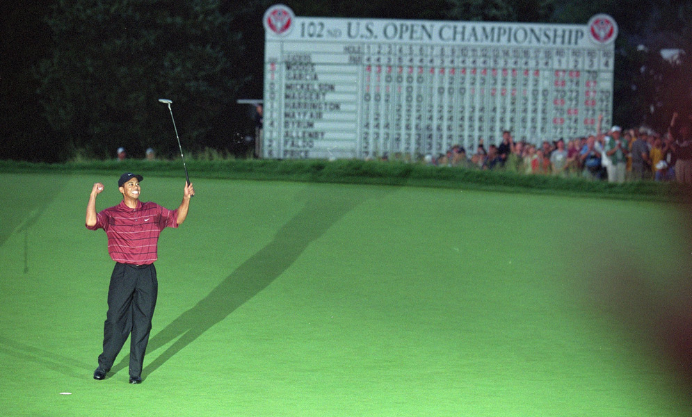Woods's wins at the 2002 Masters and U.S. Open ignited talk of the grand slam, but he finished T28 at the British Open and second at the PGA Championship.