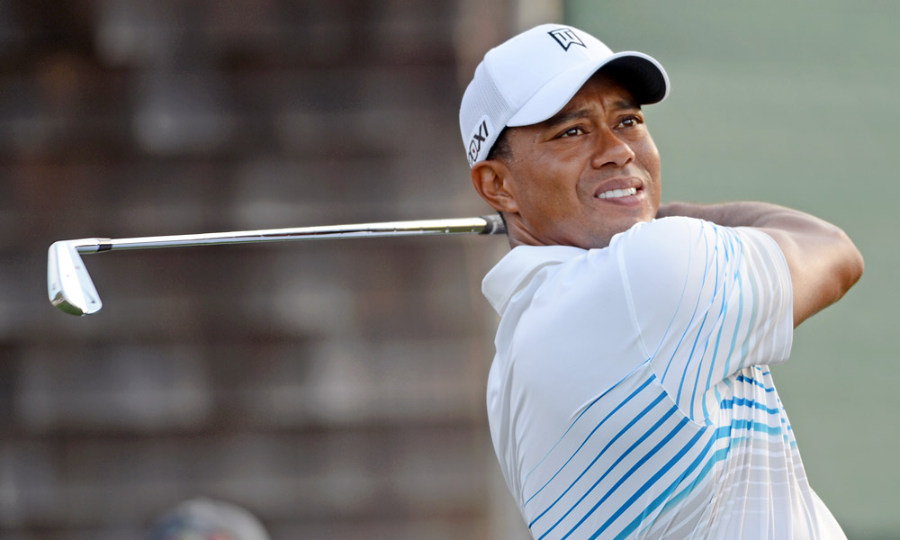 Tiger Woods played in the pro am Wednesday at Bethpage Black.
