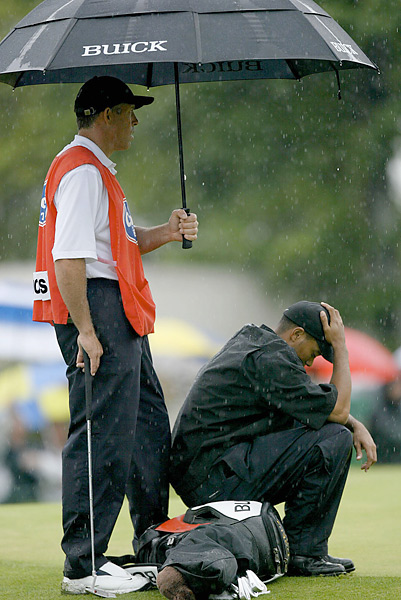 Tiger Woods, 2003 Bay Hill                        At the 2003 Bay Hill Invitational (now known as the Arnold Palmer Invitational), Woods battled through a bad case of food poisoning to win his 37th PGA Tour event -- by 11 strokes.