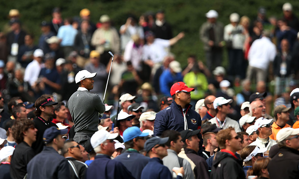 The trio of Woods, Mickelson and Watson attracted massive crowds at Olympic.