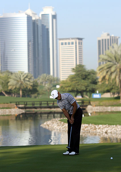Dubai Desert Classic                           Woods made his largest comeback in eight years to defeat Ernie Els in Dubai in early February. He birdied five of his last seven holes for his second victory of the year.