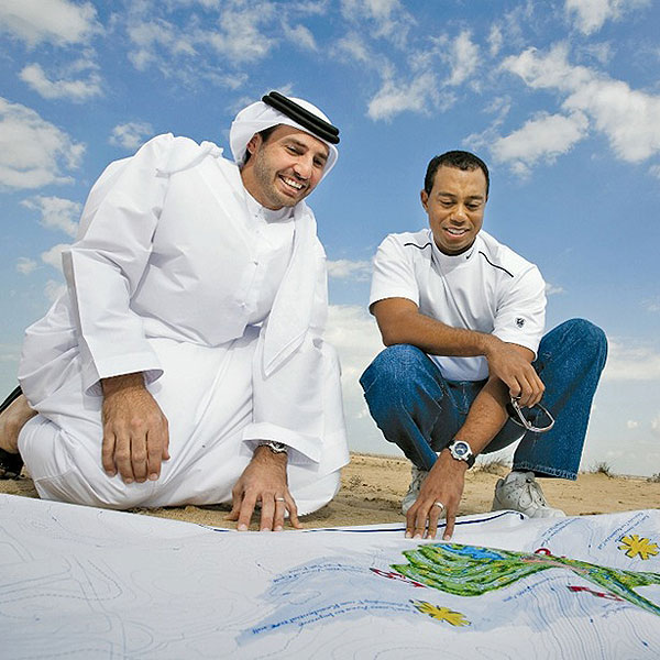 HANDS ON Tiger (with Dubailand chairman Salem bin Dasmal) will be very involved in his design business.