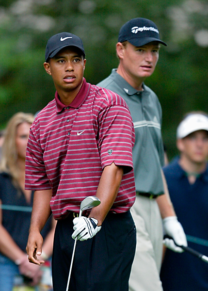 "Ernie Els                           2000 U.S. Open, Pebble Beach Golf Links                           Started: 10 strokes behind Woods                           Finished: Tied for second after a 72                           Woods' score: 67                           Key stat: Woods hit 15 greens and took only 29                           putts on Sunday, compared to Els' 12 and 31,                           respectively.                           Where it all went wrong: Well before Sunday.                           Even Ernie knew he had no chance.                           Telling comment: ""It's got to be a dream,"" Els                           said. ""He was in a different tournament than the                           rest of us."""