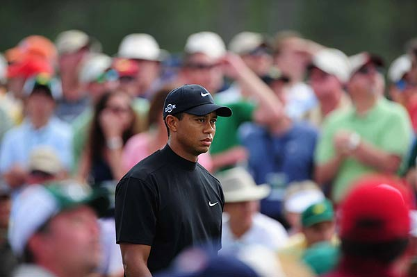The Frustrated Faces of Tiger Woods                           Tiger Woods showed his human side during the 2008 Masters as he struggled to make putts and put himself in a position to win. Here's a look back at several moments where the World's No. 1 looked a little more like the rest of us.