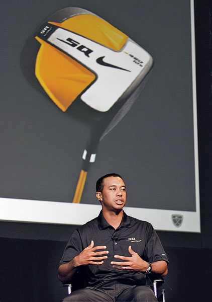 SALES PITCH Nike's $100 million man stumped for the company's new driver.