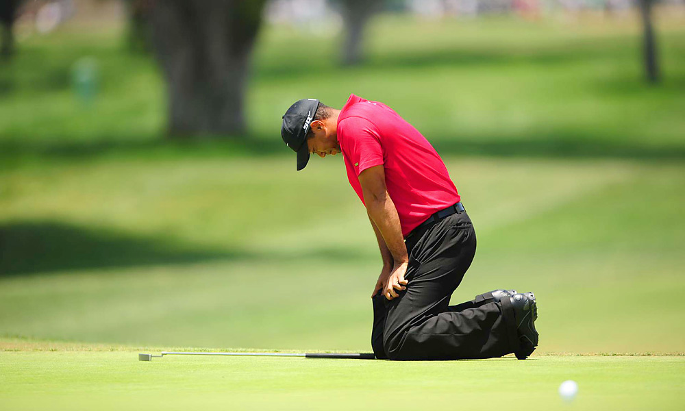 Tiger Woods, 2008 U.S. Open                       In one of the most memorable performances in the history of golf, Woods beat Rocco Mediate in a 19-hole playoff at the 2008 U.S. Open at Torrey Pines. All week it was clear Woods was playing on an injured left leg, but he limped, grimaced and fought his way through all 91 holes to capture his 14th major. After the tournament, Woods revealed that he had played with a torn ACL and a double-stress fracture in his left leg.