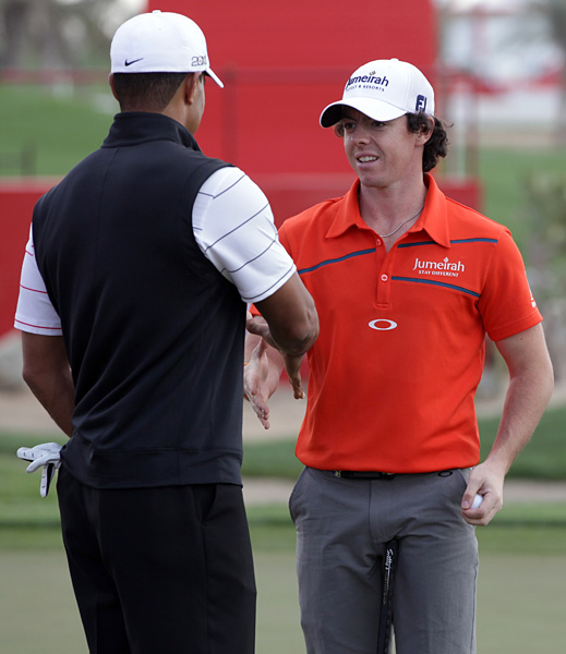 The two are preparing for the 2012 Abu Dhabi Championship, which begins Thursday.