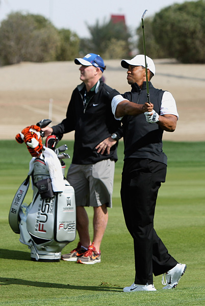 Woods got his first victory with his new caddie, Joe LaCava, in December at the Chevron World Challenge.