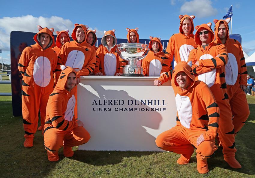 Even though Tiger Woods wasn't at the Alfred Dunhill Links Championship, he had plenty of supporters.