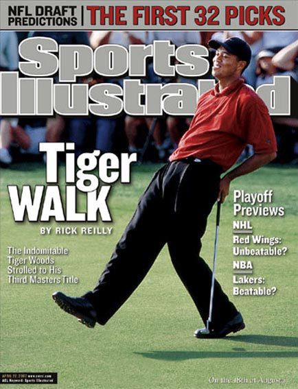 April 22, 2002                           Woods wins back-to-back Masters titles.                                                       Read the story.