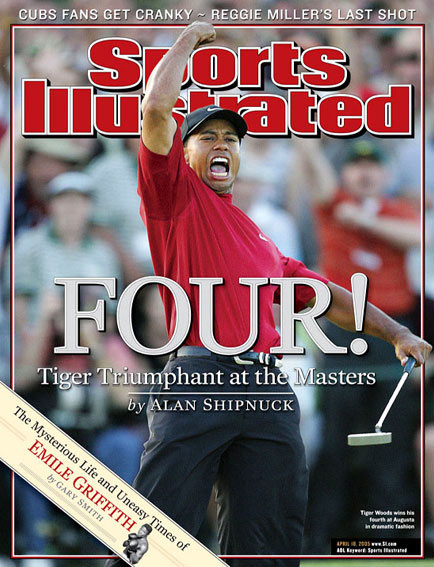 April 18, 2005                       Woods wins his fourth green jacket at the Masters.                                               Read the story.