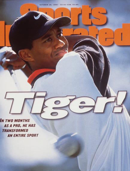 October 28, 1996                           Woods wins two tournaments in his rookie season.                                                       Read the story.
