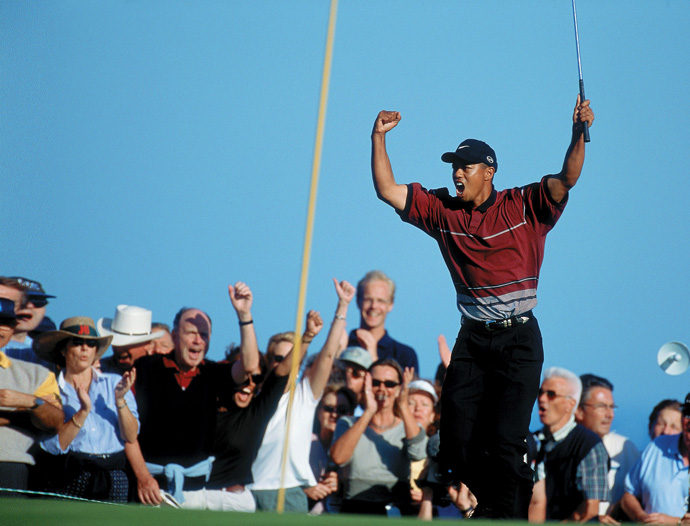 A few months later, Woods traveled to Spain and captured his second WGC title in a playoff over local favorite Miguel Angel Jimenez at the 1999 American Express Championship at Valderrama Golf Club.