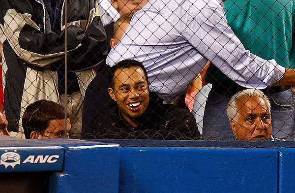 Woods also went to a Yankees/Red Sox game in August while visiting New York City.