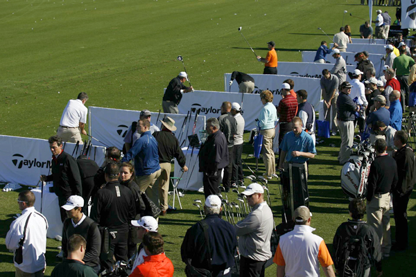 The TaylorMade tent was very busy with people lining up to try the Superfast 2.0 and R11 white drivers.                                              SEE: TaylorMade reviews, videos                       TRY: GolfTEC, Golfsmith, TaylorMade fitting                       BUY: TaylorMade R11 and Burner Superfast 2.0 white drivers on Golf.com
