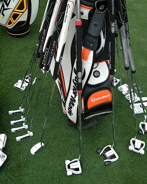 An array of TaylorMade putters at Bay Hill, including the new Daddy Long Legs.