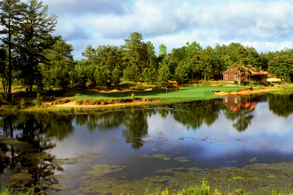 Architect Mike Strantz left us way too soon, succumbing to cancer in 2005 at age 50. His legacy lies in some of the most imaginative course-shaping ever seen. Some critics contend he pushed the envelope too far, but supporters call his finished products pure genius. Tobacco Road, a 1998 creation near Pinehurst, embraces both camps. Towering sandhills dotted with scrubby pines, 70 feet of elevation change, and vast bunkers and chaotically configured greens spice the play, but the strategic options remain superb. Anytime you encounter a course of only 6,554 yards that boasts a staggering slope of 150, instinct tells you that you're in for a wild thrill ride. In that regard, Tobacco Road is practically an amusement park.