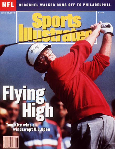 Tom Kite wins the 1992 U.S. Open at Pebble Beach, June 29, 1992