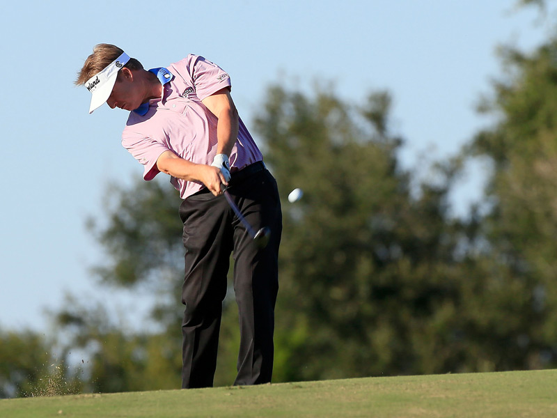David Toms made four birdies and a bogey for a three-under 67.