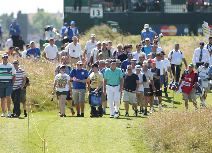 """This isn't a baseball game where you yell, 'Swing, swing, swing batter.' It's not that sort of stuff. We don't do that in golf. That's what separates golf from other sports, honestly.                           --Tom Watson on why he doesn't like fans cheering missed putts at the Ryder Cup."