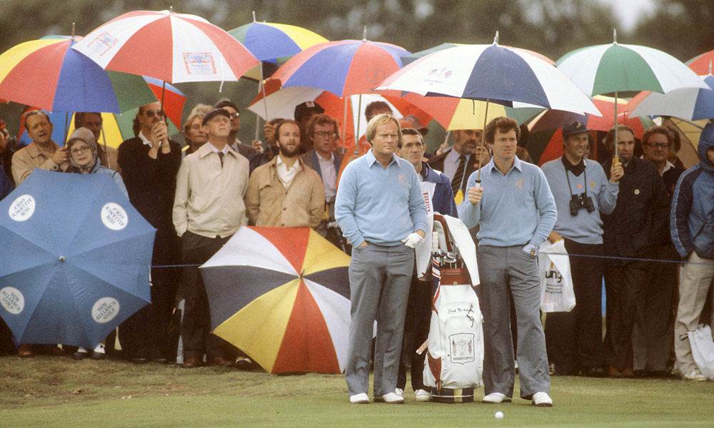 Tom Watson, Ryder Cup Record: 10-4-1Watson, at right with Jack Nicklaus at the '81 Ryder Cup, played in four Cups and captained the 1993 team.