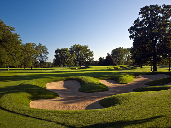 "Mark Calcavecchia once said this 1964 Dick Wilson/Joe Lee design outside Chicago ""could host a U.S. Open tomorrow."" It won't be the 2017 Open — that was awarded to Erin Hills — but Cog Hill was very close to earning the national championship. Time, technology and soft, inconsistent greens had removed the fangs from a course nicknamed Dubsdread, but a 2008 redo by Rees Jones deepened and repositioned bunkers and stretched it to nearly 7,400 yards. ""There aren't too many golf courses where you absolutely love the layout,"" Tiger Woods said a few years back. ""I love this golf course. The holes fit my eye."" Dropped from our 2008 rankings due to its closure, Cog Hill No. 4 is back — and likely here to stay."