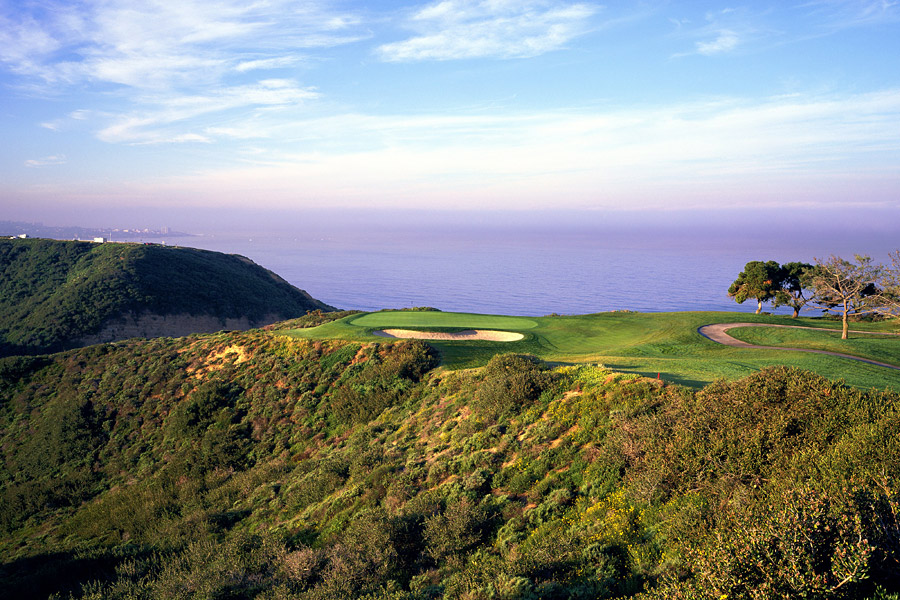 8. Torrey Pines South Course, San Diego, Calif. (Farmers Insurance Open)                           Par: 72                           Yards: 7,698                           Average Score: 72.792 -- 0.792 strokes over par                                                      The third hole at Torrey Pines South.