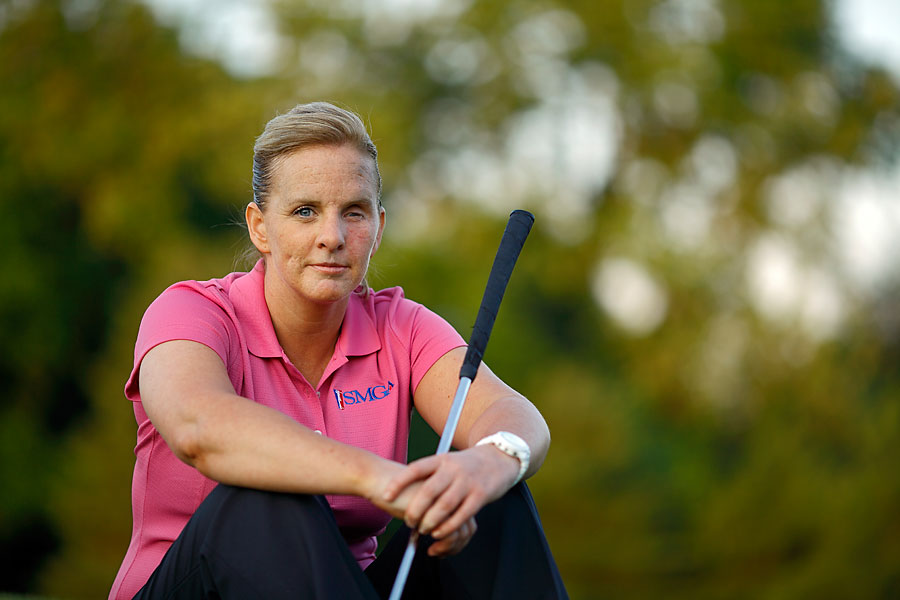 One reason Breinne Travers loves the golf clinic is that it gives her a taste of the camaraderie she experienced in the Guard.