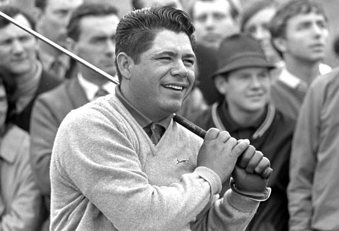 Lee Trevino at the 1969 British Open at Royal Lytham and St. Annes. He finished T34 in his Open debut, but later won the 1971 and 1972 British Opens.