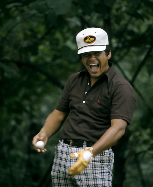 "5. Lee Trevino                           	""Super Mex,"" Trevino will tell you, was just a character he created while winning six majors between 1968 and 1984. ""I'm actually a very quiet person off the golf course. I very seldom open my mouth."" He'd have a hard time convincing his many fans, who lapped up his folksy aphorisms (""Pressure is playing for $10 when you don't have a dime in your pocket"") and lightning-avoidance tips (""Hold up a 1-iron; not even God can hit a 1-iron""). Says Zoeller, ""Lee's got more lines than the Illinois Railroad."""