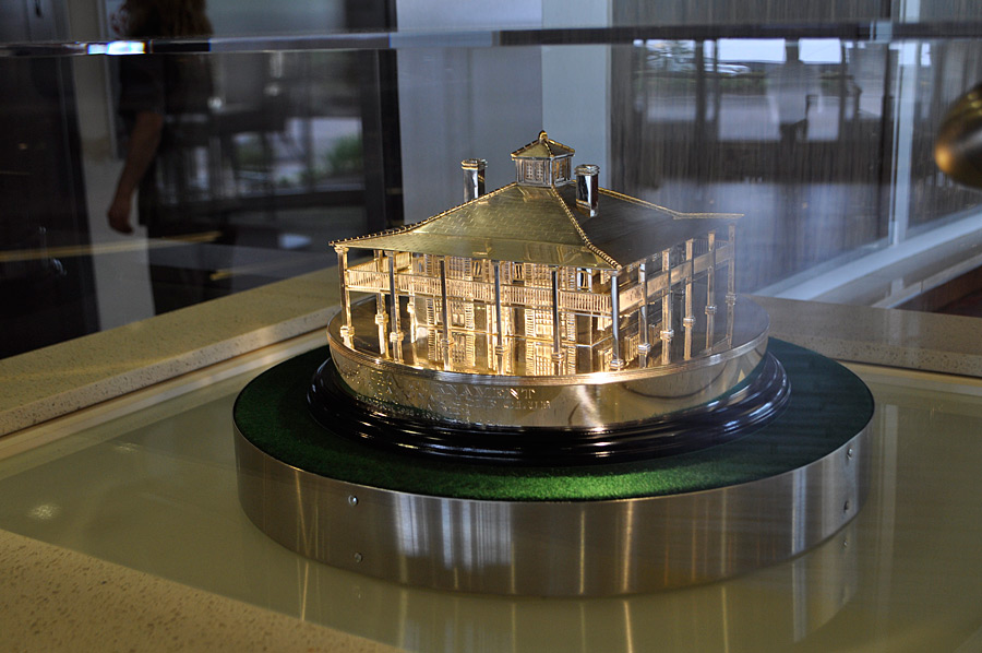 Palmer had to get special permission from Augusta National in order to display one of his Masters trophies in the lobby of the hotel.