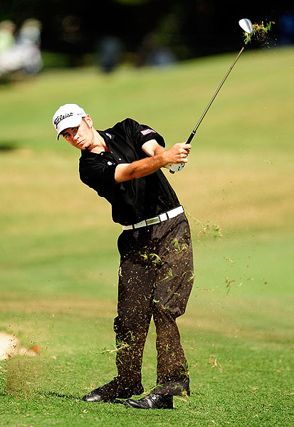 is also tied for the early lead in his first PGA Tour event.