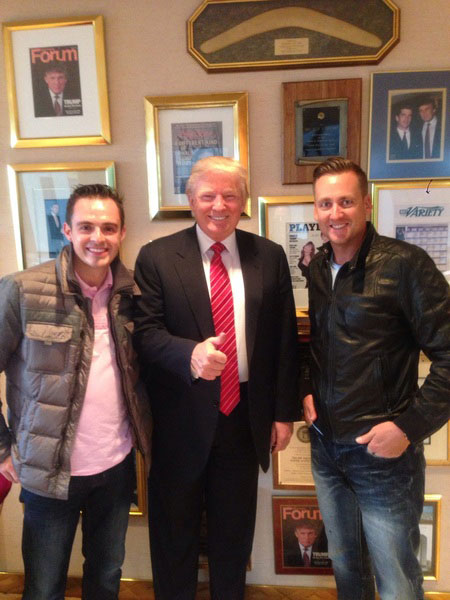 @ianjamespoulter:  In NY with @TomHartleyjnr & had to stop by @realDonaldTrump office for a quick cup of tea. #Avit #yourfired