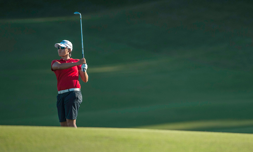 World No. 1 Yani Tseng, who has struggled for much of 2012, shot a 67 and trails by two.