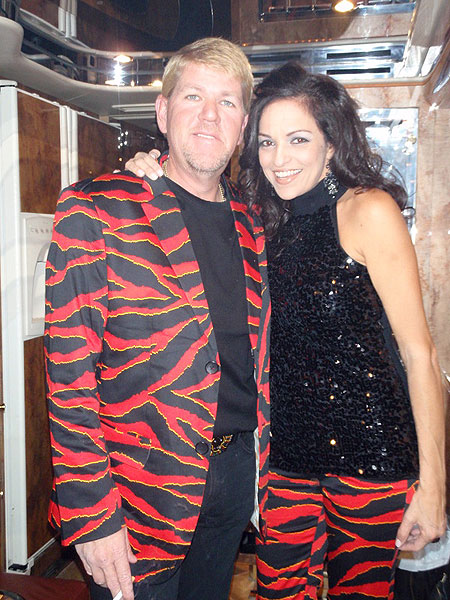Golfer and recording artist John Daly made a matchy-matchy appearance at the Country Music Awards this week with his girlfriend.                           PGA_JohnDaly me and my best friend/gf anyone can ask for off to a great night! (9:22 p.m. Nov. 16)